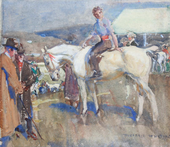 Frederic Whiting (British, 1874-1962) 'Gypsy Horse Dealers',