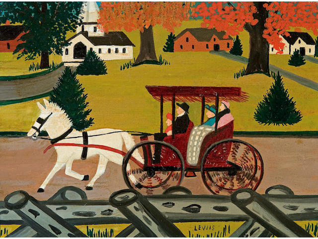 Maud Lewis (Canadian, 1903-1970) The Family Outing