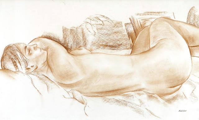 Louis Muhlstock (Canadian, 1904-2001) Nude