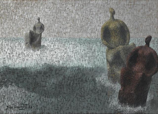 John Armstrong (British, 1893-1973) Gods Adrift 33 x 45.8 (13 x 18 in.)