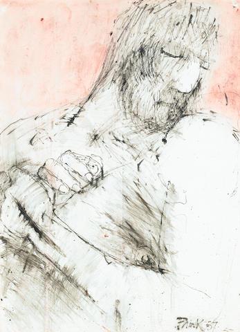 Dame Elisabeth Frink R.A. (British, 1930-1993) Study of a Man 78.2 x 56 cm. (30 3/4 x 22 in.)
