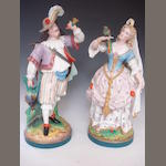 A pair of french bisque figures Circa 1900