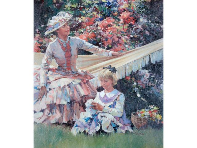 Dianne Flynn (British, born 1939) 'The Hammock',