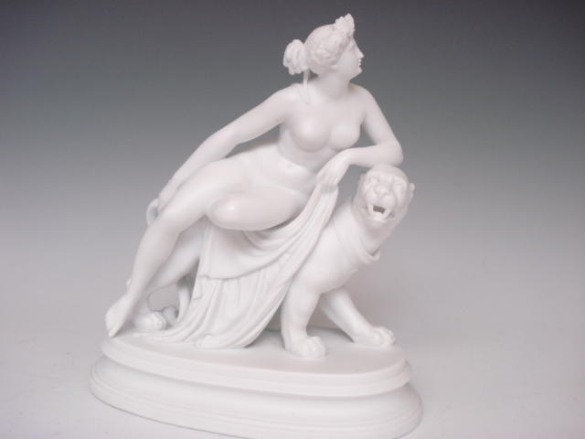 A continental parian figure group Late 19th century