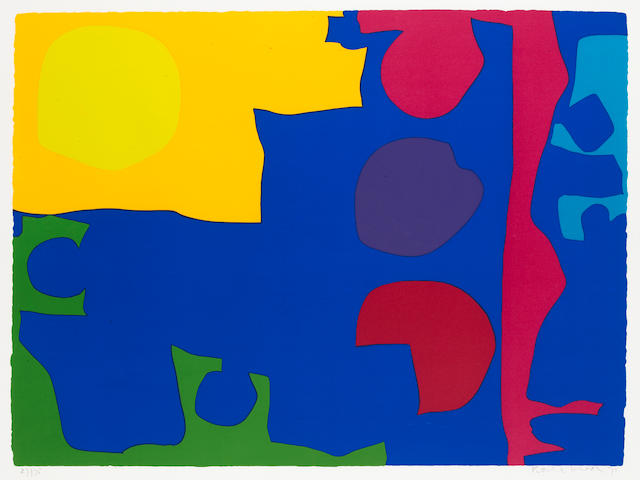 Patrick Heron (British, 1920-1999) Eight including Ultramarine  Screenprint, 1971, printed in colours, on JR Green paper, signed, dated and numbered 27/75 in pencil, printed by Kelpra Studio, published by Waddington Graphics, 588 x 800mm (23 1/5 x 31 1/2in)(I)  unframed