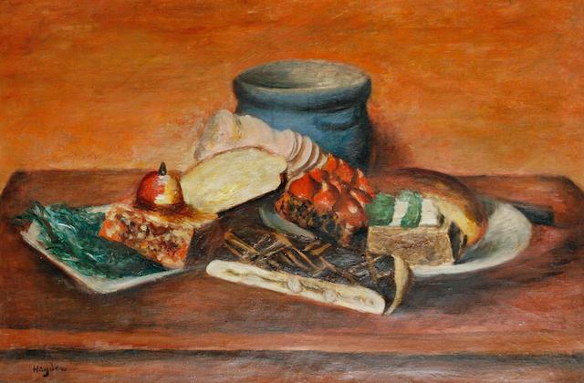 Henri Hayden (French, 1883-1970) Still life with blue vase