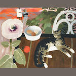 Mary Fedden R.A. (British, born 1915) Michael Painting 61 x 76.2 cm. (24 x 30 in.)