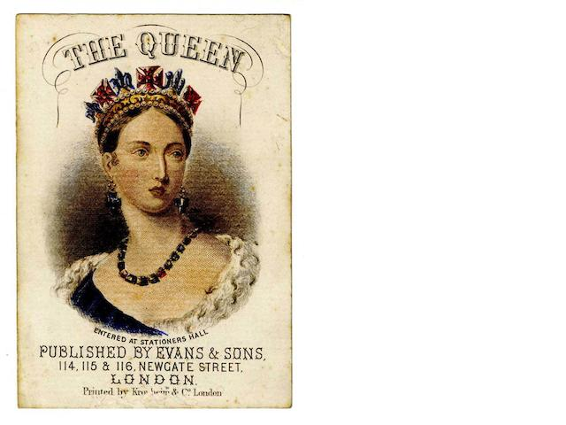 """The Queen"", a heraldic card game, Evans & Sons, London, circa 1837,"