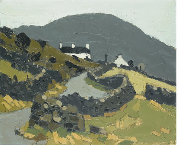 Sir Kyffin Williams, R.A. (British, 1918-2006) Near Waunfawr 51 x 60.8 cm. (20 x 24 in.)