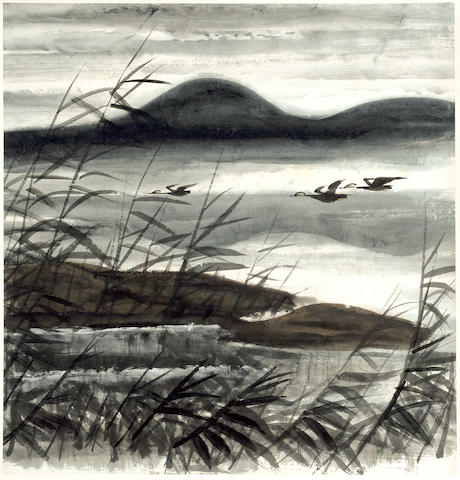 Lin Fengmian (1900-1991)<br>Flying Geese