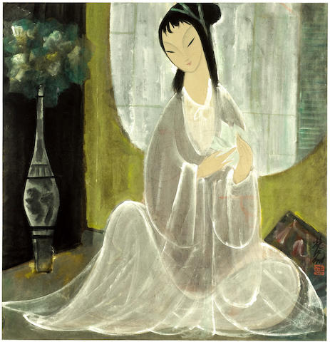 Lin Fengmian (1900-1991)<br>Lady with White Lotus