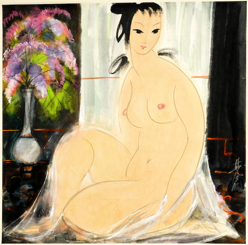 Lin Fengmian (1900-1991)<br>Nude