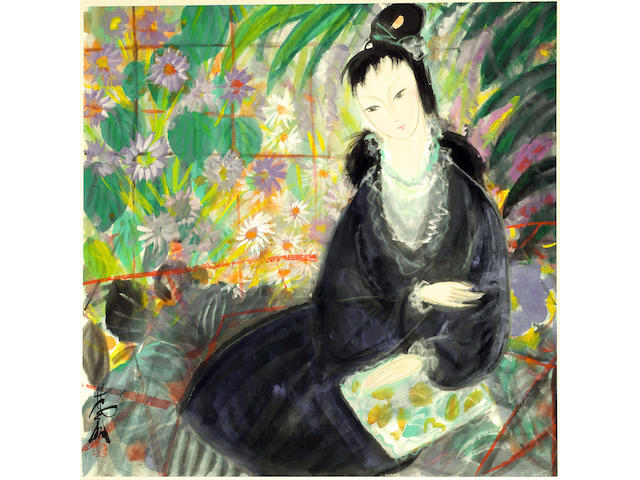 Lin Fengmian (1900-1991)<br>Lady in Blue