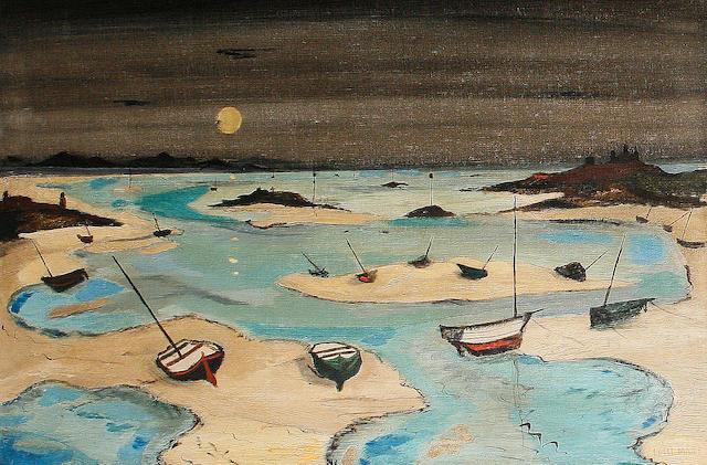 Fred Uhlman (British, 1901-1985) Incoming tide