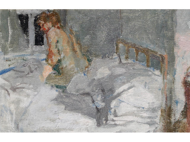 Bernard Dunstan, R.A. (British, born 1920) 'Going to bed'