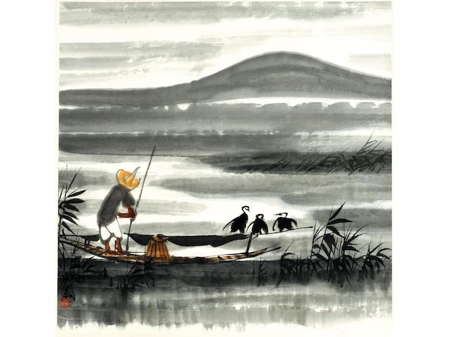 Lin Fengmian (1900-1991) Fisherman