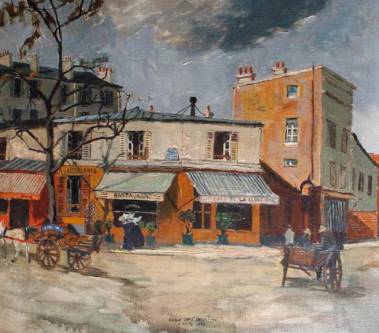 Elsa von Arnim (German, born 1883) Parisian street scene