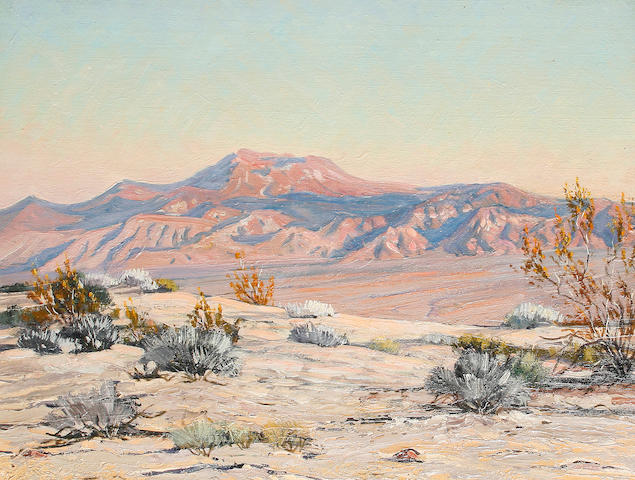 Slyvia Winslow Arid landscape with mountains beyond