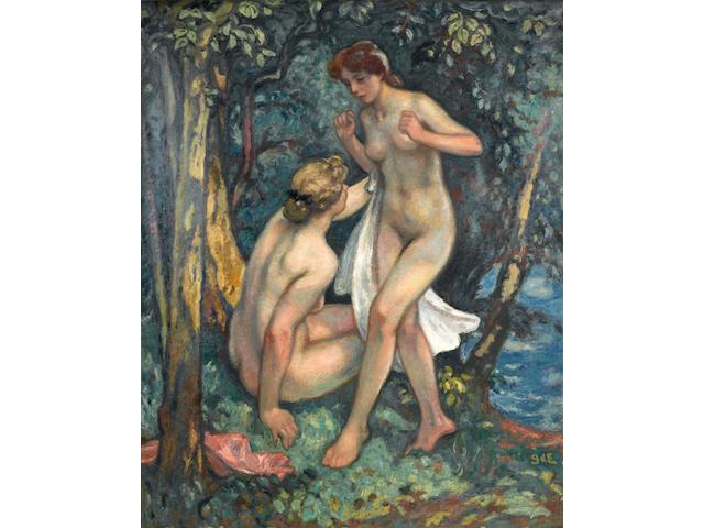 Georges d' Espagnat (French, 1870-1950) Les deux baigneuses