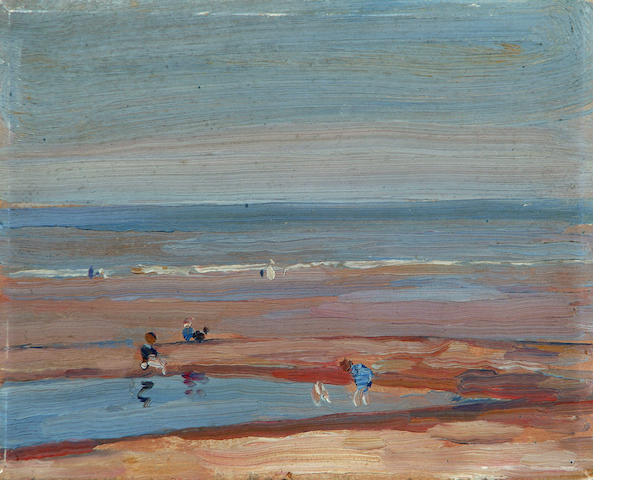 Mark Senior (British, 1864-1927) The Beach