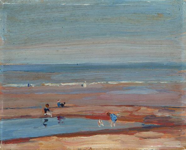 Mark Senior (British, 1864-1927) The Beach