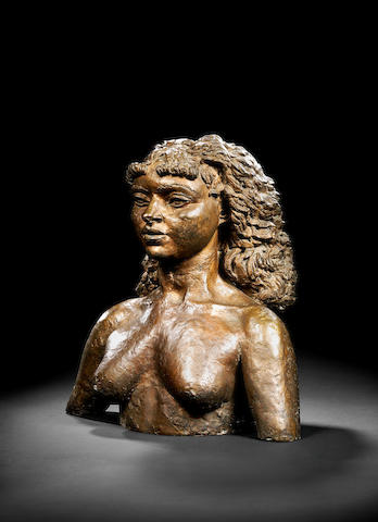 Sir Jacob Epstein (British, 1880-1959) Princess Menen 54 cm. (21 1/4 in.) high
