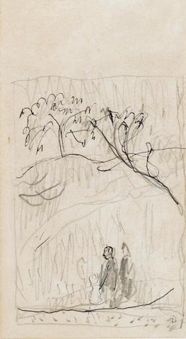 Pierre Bonnard (French, 1867-1947) Personnages en fôret