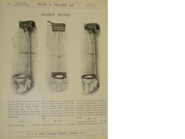 A Pryke & Palmer Ltd sales catalogue, January 1929,