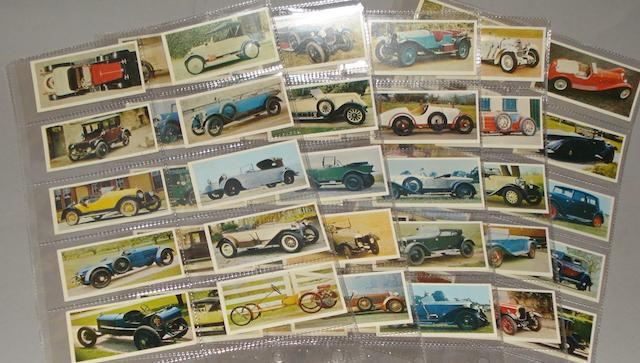 A set of Craven 'Black Cat' vintage cars cigarette cards, 1975-76,