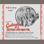A 'Confessions of a Driving Instructor' film poster, 1976,