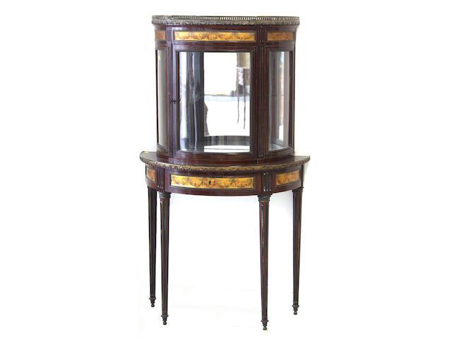 An Edwardian mahogany display cabinet,