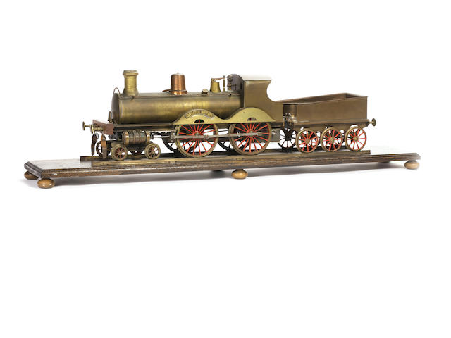 "Stevens Model Dockyard 4½"" gauge 4-4-0 locomotive Greater Britain and 6-wheel tender"