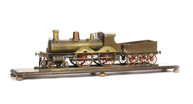 "Stevens Model Dockyard 4½"" gauge 4-4-0 locomotive Greater Britain and 6-wheel tender"
