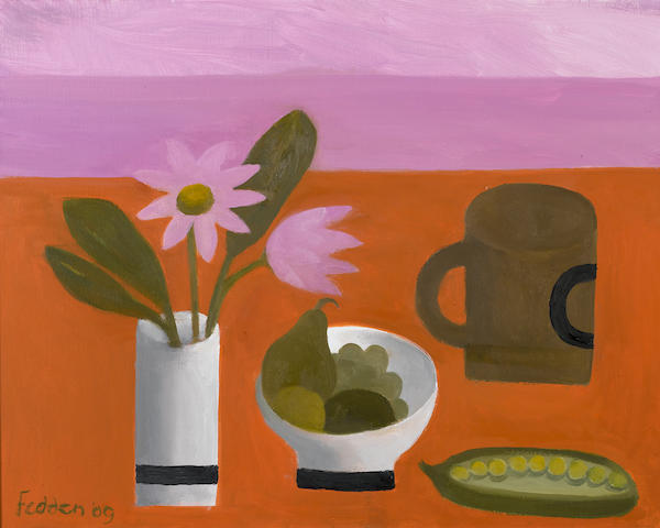 Mary Fedden R.A. (British, born 1915) Brown Mug 40.5 x 50.8 cm. (16 x 20 in.)