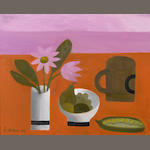 Mary Fedden R.A. (British, born 1915) Brown Mug 40.5 x 50.8 cm. (16 x 20 in.)