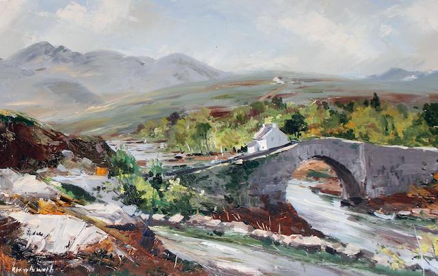 Kenneth Webb (Irish, born 1927) The Lackagh Bridge, Donegall