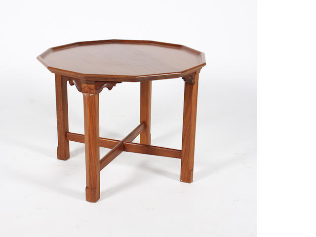 A Gordon Russell 'retirement' teak occasional table by Adriann Hermsen