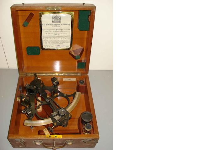 A 20th century sextant and case, 'Hezzanith'.
