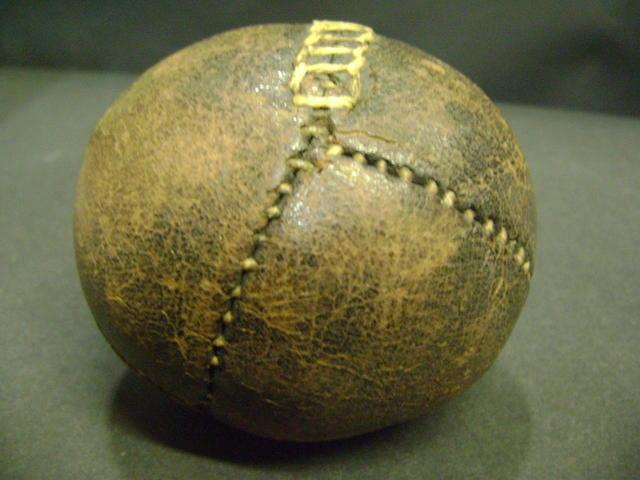 A 'lemon peel' baseball circa 1860