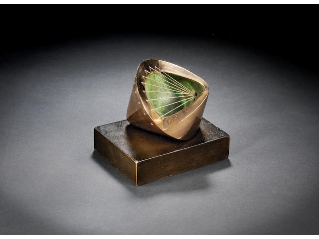 Dame Barbara Hepworth (British, 1903-1975) Stringed form 10 cm. (4 in.) high (including base)