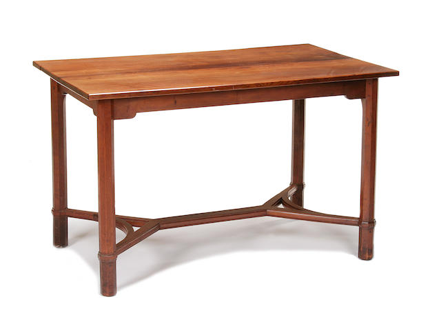 A scarce Gordon Russell yew refectory style dining table, designed by Gordon Russell, No. X571, circa 1931