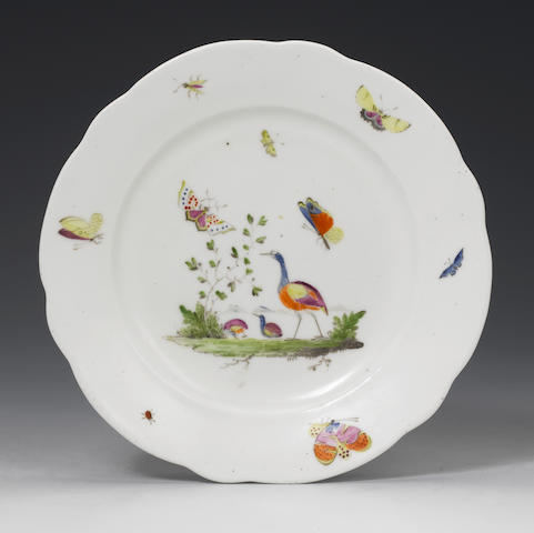 A rare Nantgarw plate Circa 1818-20.