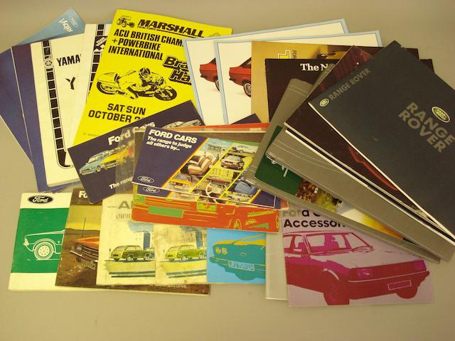 A quantity of mainly Ford sales literature,