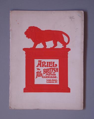 A 1905 Ariel All British Motor Carriage sales brochure,