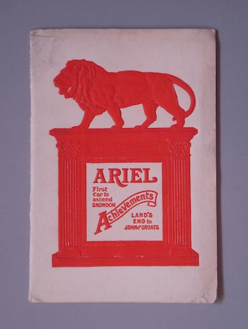 A 1904 Ariel Achievements 'First Car to Ascend Snowdon' and 'Land's End to John o'Groats' trials booklet,