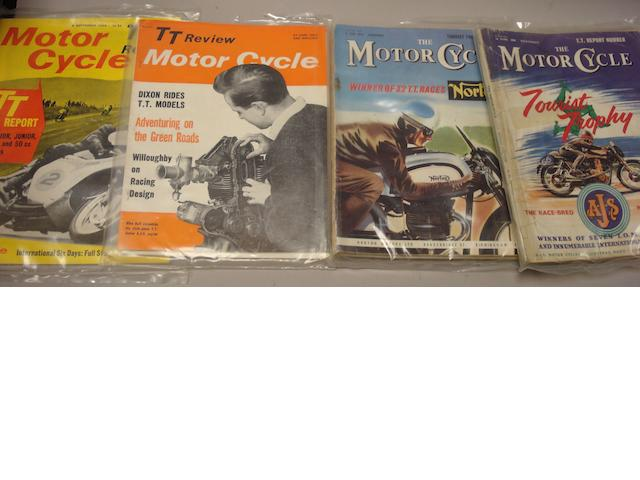 A run of Motorcycle magazine,