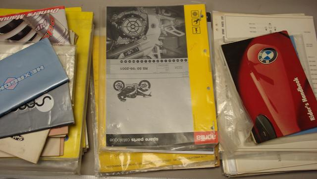 A lot of motorcycle technical literature,