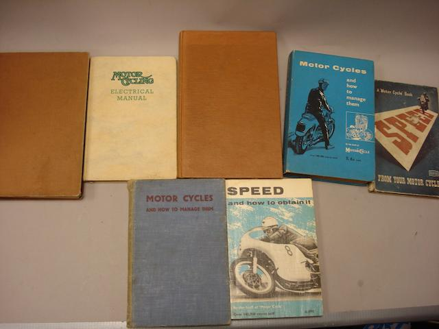 A lot of motorcycle literature,