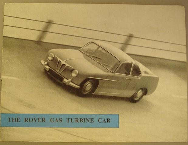A Rover 'Gas Turbine' sales brochure, October 1956,