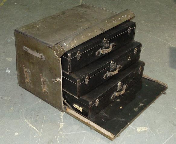 A Finnigans luggage trunk, 1930s,